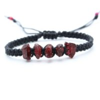Raw Garnet Bracelet – January Birthstone | Natural genuine Gemstone jewelry. Buy crystal jewelry, handmade handcrafted artisan jewelry for women.  Unique handmade gift ideas. #jewelry #beadedjewelry #beadedjewelry #gift #shopping #handmadejewelry #fashion #style #product #jewelry #affiliate #ad