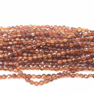 Faceted Orange Garnet 4mm Flat Round Cut Grade A Natural Coin Beads 15 Inch Jewelry Bracelet Necklace Material Supply | Natural genuine other-shape Gemstone beads for beading and jewelry making.  #jewelry #beads #beadedjewelry #diyjewelry #jewelrymaking #beadstore #beading #affiliate #ad
