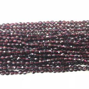 Faceted Red Garnet 4mm Flat Round Cut Grade A Natural Coin Beads 15 Inch Jewelry Bracelet Necklace Material Supply | Natural genuine other-shape Gemstone beads for beading and jewelry making.  #jewelry #beads #beadedjewelry #diyjewelry #jewelrymaking #beadstore #beading #affiliate #ad