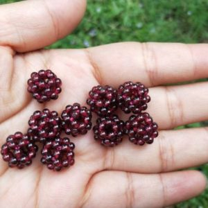 Shop Garnet Bead Shapes! Natural Red Garnet Woven Beads | Natural genuine other-shape Garnet beads for beading and jewelry making.  #jewelry #beads #beadedjewelry #diyjewelry #jewelrymaking #beadstore #beading #affiliate #ad