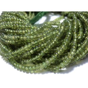 Shop Garnet Rondelle Beads! Green Garnet Rondelles, Vessonite Beads, 3mm Beads, Rondelle Beads, 13 Inch Strand | Natural genuine rondelle Garnet beads for beading and jewelry making.  #jewelry #beads #beadedjewelry #diyjewelry #jewelrymaking #beadstore #beading #affiliate #ad