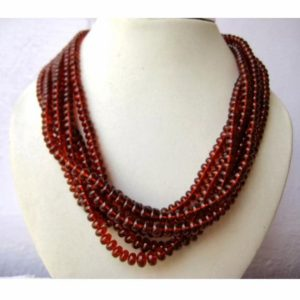 Shop Garnet Rondelle Beads! Hessonite Garnet – AAAgems – Rondelle Beads – 8mm To 5mm Beads – 8 Inch Half Strand – 56 Pieces Approx | Natural genuine rondelle Garnet beads for beading and jewelry making.  #jewelry #beads #beadedjewelry #diyjewelry #jewelrymaking #beadstore #beading #affiliate #ad