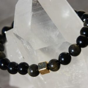 Shop Golden Obsidian Bracelets! golden obsidian bracelet | Natural genuine Golden Obsidian bracelets. Buy crystal jewelry, handmade handcrafted artisan jewelry for women.  Unique handmade gift ideas. #jewelry #beadedbracelets #beadedjewelry #gift #shopping #handmadejewelry #fashion #style #product #bracelets #affiliate #ad