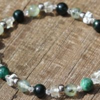 Let Go And Be Happy, Green Amethyst, Prehinite And Fuchsite Healing Stone Bracelet Or Anklet With Positive Healing Energy! | Natural genuine Gemstone jewelry. Buy crystal jewelry, handmade handcrafted artisan jewelry for women.  Unique handmade gift ideas. #jewelry #beadedjewelry #beadedjewelry #gift #shopping #handmadejewelry #fashion #style #product #jewelry #affiliate #ad