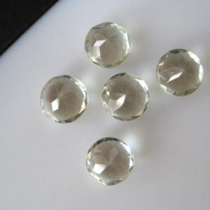 Shop Green Amethyst Beads! 10 Pieces 8mm Natural Green Amethyst Round Shaped Faceted Loose Gemstones BB157 | Natural genuine faceted Green Amethyst beads for beading and jewelry making.  #jewelry #beads #beadedjewelry #diyjewelry #jewelrymaking #beadstore #beading #affiliate #ad