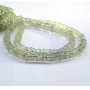 Shop Green Amethyst Beads! Natural Green Amethyst Faceted Tyre Rondelle Beads, 6mm Green Amethyst Loose Heishi Gemstone Beads, Sold As 8.5 Inch/17 Inch Strand, GDS2079 | Natural genuine faceted Green Amethyst beads for beading and jewelry making.  #jewelry #beads #beadedjewelry #diyjewelry #jewelrymaking #beadstore #beading #affiliate #ad