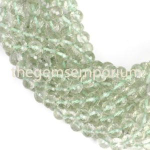 Shop Green Amethyst Beads! Green Amethyst Faceted Round Beads, Green Amethyst Round Beads, Green Amethyst Faceted Beads, Green Amethyst Beads | Natural genuine faceted Green Amethyst beads for beading and jewelry making.  #jewelry #beads #beadedjewelry #diyjewelry #jewelrymaking #beadstore #beading #affiliate #ad