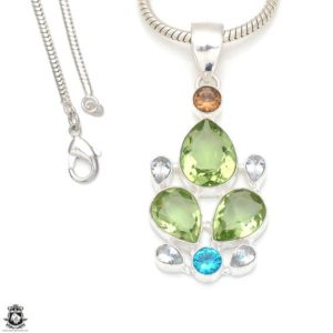 Shop Green Amethyst Pendants! Green Amethyst Clear Quartz Pendant 4MM Italian Snake Chain P8314   Natural genuine Green Amethyst pendants. Buy crystal jewelry, handmade handcrafted artisan jewelry for women.  Unique handmade gift ideas. #jewelry #beadedpendants #beadedjewelry #gift #shopping #handmadejewelry #fashion #style #product #pendants #affiliate #ad