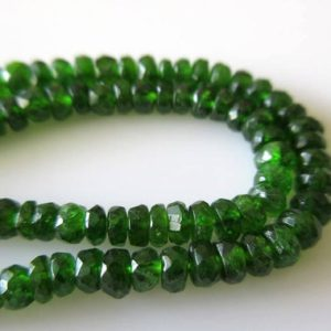 Shop Green Tourmaline Beads! AAA Green Chrome Tourmaline Faceted Rondelle Beads, Faceted Chrome Dravite Green Tourmaline, 4.5mm To 7mm, 17 Inch Strand GDS479 | Natural genuine faceted Green Tourmaline beads for beading and jewelry making.  #jewelry #beads #beadedjewelry #diyjewelry #jewelrymaking #beadstore #beading #affiliate #ad