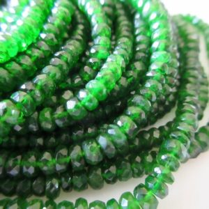 Shop Green Tourmaline Beads! Green Chrome Tourmaline Faceted Rondelle Beads, Faceted Chrome Dravite Green Tourmaline, 3mm To 4mm, 16 Inch Strand GDS680 | Natural genuine faceted Green Tourmaline beads for beading and jewelry making.  #jewelry #beads #beadedjewelry #diyjewelry #jewelrymaking #beadstore #beading #affiliate #ad
