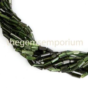 Shop Green Tourmaline Beads! Green Tourmaline smooth plain Shaded Pipe/Tube Beads, Tourmaline smooth Beads, Tourmaline Pipe/Tube Beads, Green Tourmaline Beads, wholesale | Natural genuine other-shape Green Tourmaline beads for beading and jewelry making.  #jewelry #beads #beadedjewelry #diyjewelry #jewelrymaking #beadstore #beading #affiliate #ad