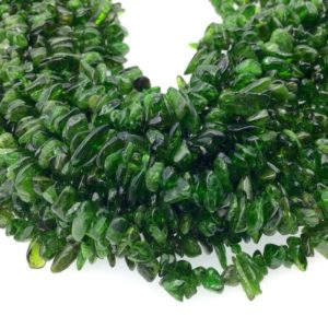 "Shop Green Tourmaline Beads! Green Tourmaline Stick Beads – 15"" Strand (approximately 140 Beads) – Measuring 2-5mm X 8-15mm – Natural Semi-precious Gemstone 