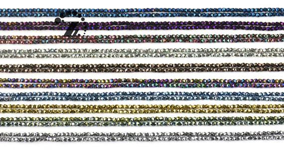 "Hematite, Faceted Nugget,genuine Hematite Beads,smooth Electroplating Beads,diy Beads,color For Choice,3mm,15"" Full Strand"