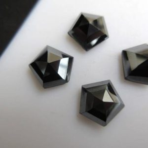 Shop Hematite Faceted Beads! 10 Pieces 11x11mm Each Natural Hematite Rose Cut Shield Shaped Faceted Flat Back Loose Gemstone BB464 | Natural genuine faceted Hematite beads for beading and jewelry making.  #jewelry #beads #beadedjewelry #diyjewelry #jewelrymaking #beadstore #beading #affiliate #ad