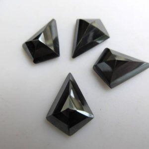 Shop Hematite Faceted Beads! 10 Pieces 14x10mm Natural Hematite Fancy Shaped Faceted Flat Back Loose Gemstones BB452 | Natural genuine faceted Hematite beads for beading and jewelry making.  #jewelry #beads #beadedjewelry #diyjewelry #jewelrymaking #beadstore #beading #affiliate #ad