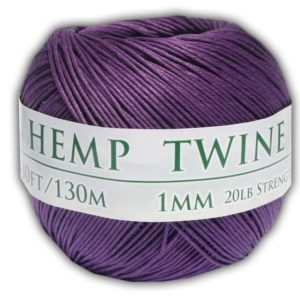 Shop Hemp Twine! Hemp Twine – Purple, All-natural 1mm,  430 Feet | Shop jewelry making and beading supplies, tools & findings for DIY jewelry making and crafts. #jewelrymaking #diyjewelry #jewelrycrafts #jewelrysupplies #beading #affiliate #ad