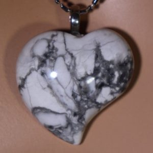 Shop Howlite Necklaces! Howlite Heart Healing Stone Necklace!   Natural genuine Howlite necklaces. Buy crystal jewelry, handmade handcrafted artisan jewelry for women.  Unique handmade gift ideas. #jewelry #beadednecklaces #beadedjewelry #gift #shopping #handmadejewelry #fashion #style #product #necklaces #affiliate #ad