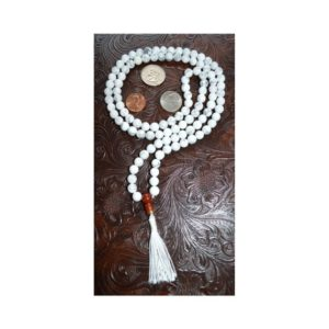 Howlite Mala Necklace Calming howlite mala 108 beads, mala tassel necklace, beaded 108 gemstone necklace, yoga beads necklace gift for her | Natural genuine Gemstone necklaces. Buy crystal jewelry, handmade handcrafted artisan jewelry for women.  Unique handmade gift ideas. #jewelry #beadednecklaces #beadedjewelry #gift #shopping #handmadejewelry #fashion #style #product #necklaces #affiliate #ad