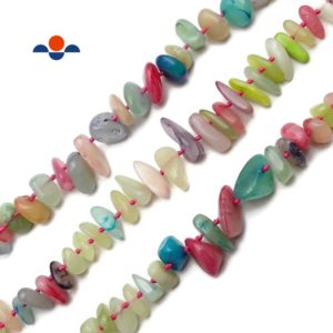 """Shop Jade Chip & Nugget Beads! Candy Dyed Jade Graduated Pebble Nugget Beads Size 10mm-25mm 15.5"""" Strand 