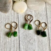 Jade Earrings, Genuine Jade Earrings, natural Jade Earrings, raw Stone Earrings, jade Dangle Earrings, green Jade Earrings, Green Stone Earrings | Natural genuine Gemstone jewelry. Buy crystal jewelry, handmade handcrafted artisan jewelry for women.  Unique handmade gift ideas. #jewelry #beadedjewelry #beadedjewelry #gift #shopping #handmadejewelry #fashion #style #product #jewelry #affiliate #ad