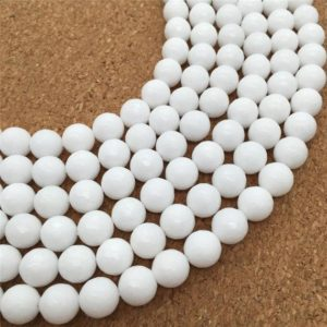 Shop Jade Faceted Beads! 10mm Faceted White Jade Beads, Gemstone Beads, Wholesale Beads | Natural genuine faceted Jade beads for beading and jewelry making.  #jewelry #beads #beadedjewelry #diyjewelry #jewelrymaking #beadstore #beading #affiliate #ad