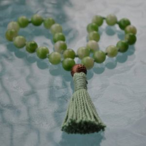 Shop Jade Necklaces! Knotted Mala, Quarter mala,Green pocket Japa Mala, 27+1, Green Mixed Jade – Heart chakra, Achieving Goals Memory Concentration Self Esteem | Natural genuine Jade necklaces. Buy crystal jewelry, handmade handcrafted artisan jewelry for women.  Unique handmade gift ideas. #jewelry #beadednecklaces #beadedjewelry #gift #shopping #handmadejewelry #fashion #style #product #necklaces #affiliate #ad