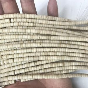 Shop Jasper Bead Shapes! Natural White Fossil Jasper 2x4mm Heishi Genuine Loose Beads 15 inch Jewelry Supply Bracelet Necklace Material Support Wholesale | Natural genuine other-shape Jasper beads for beading and jewelry making.  #jewelry #beads #beadedjewelry #diyjewelry #jewelrymaking #beadstore #beading #affiliate #ad