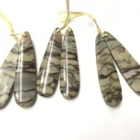 Natural Brown Zebra Jasper Long Waterdrop, 12x45mm Genuine Gemstone Teardrop Pendant —1 Pair (2pcs) | Natural genuine Gemstone jewelry. Buy crystal jewelry, handmade handcrafted artisan jewelry for women.  Unique handmade gift ideas. #jewelry #beadedjewelry #beadedjewelry #gift #shopping #handmadejewelry #fashion #style #product #jewelry #affiliate #ad