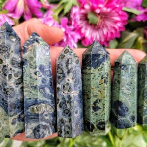 Shop Jasper Points & Wands! Kambaba Jasper Point – Crocodile Jasper – Self-standing | Natural genuine stones & crystals in various shapes & sizes. Buy raw cut, tumbled, or polished gemstones for making jewelry or crystal healing energy vibration raising reiki stones. #crystals #gemstones #crystalhealing #crystalsandgemstones #energyhealing #affiliate #ad