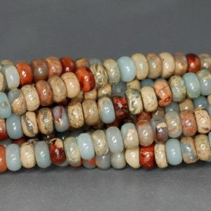 Shop Jasper Beads! 4x2mm Sea Sediment Imperial Jasper Gemstone Rondelle Loose Beads 15.5 Inch Full Strand (90184385-851) | Natural genuine beads Jasper beads for beading and jewelry making.  #jewelry #beads #beadedjewelry #diyjewelry #jewelrymaking #beadstore #beading #affiliate #ad