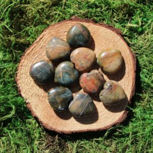 Shop Jasper Shapes! Network Stone- Cherry Creek Jasper Medium Hearts | Natural genuine stones & crystals in various shapes & sizes. Buy raw cut, tumbled, or polished gemstones for making jewelry or crystal healing energy vibration raising reiki stones. #crystals #gemstones #crystalhealing #crystalsandgemstones #energyhealing #affiliate #ad