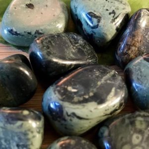 Shop Tumbled Jasper Crystals & Pocket Stones! Tumbled Kambaba Crocodile Jasper Stones Set with Gift Bag and Note | Natural genuine stones & crystals in various shapes & sizes. Buy raw cut, tumbled, or polished gemstones for making jewelry or crystal healing energy vibration raising reiki stones. #crystals #gemstones #crystalhealing #crystalsandgemstones #energyhealing #affiliate #ad