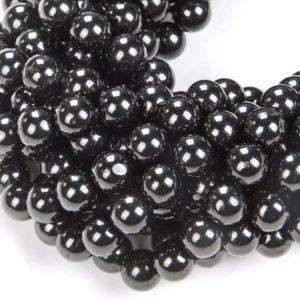 Shop Jet Beads! 6mm Natural Organic Black Jet Gemstone Grade AAA Round 6mm Loose Beads 15.5 inch Full Strand (90113027-127)   Natural genuine round Jet beads for beading and jewelry making.  #jewelry #beads #beadedjewelry #diyjewelry #jewelrymaking #beadstore #beading #affiliate #ad