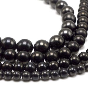 Shop Jet Beads! Black Jet Beads, Natural Gemstone Beads, Round Loose Stone Beads 6mm 8mm 10mm 15''   Natural genuine round Jet beads for beading and jewelry making.  #jewelry #beads #beadedjewelry #diyjewelry #jewelrymaking #beadstore #beading #affiliate #ad