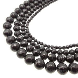 """Shop Jet Beads! Black Jet Pyrite Inclusion Smooth Round Beads 4mm 6mm 8mm 10mm 15.5"""" Strand   Natural genuine round Jet beads for beading and jewelry making.  #jewelry #beads #beadedjewelry #diyjewelry #jewelrymaking #beadstore #beading #affiliate #ad"""