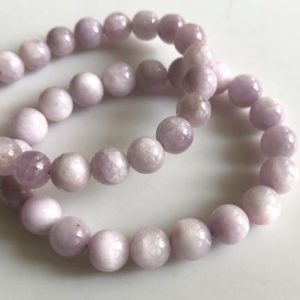 Shop Kunzite Bracelets! 1 Piece 8mm/9mm Natural Kunzite Bracelet, Kunzite Chakra/Yoga Jewelry Bracelet Kunzite Round Bead Gemstone Bracelet, GDS1758   Natural genuine Kunzite bracelets. Buy crystal jewelry, handmade handcrafted artisan jewelry for women.  Unique handmade gift ideas. #jewelry #beadedbracelets #beadedjewelry #gift #shopping #handmadejewelry #fashion #style #product #bracelets #affiliate #ad