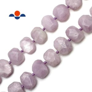 """Natural Kunzite Rectangle Slice Faceted Octagon Beads Approx 15x20mm 15.5"""" Strd 