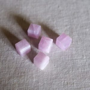 Kunzite Cube | High Quality Pink Kunzite Crystal Cubes | Natural genuine stones & crystals in various shapes & sizes. Buy raw cut, tumbled, or polished gemstones for making jewelry or crystal healing energy vibration raising reiki stones. #crystals #gemstones #crystalhealing #crystalsandgemstones #energyhealing #affiliate #ad