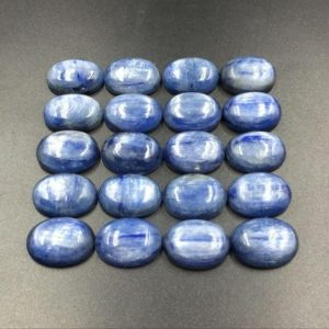 Oval Kyanite Cabochon Natural Blue Kyanite Crystal Cabochon Semi Precious Gemstone Cabochon Oval Cabochon GC | Natural genuine stones & crystals in various shapes & sizes. Buy raw cut, tumbled, or polished gemstones for making jewelry or crystal healing energy vibration raising reiki stones. #crystals #gemstones #crystalhealing #crystalsandgemstones #energyhealing #affiliate #ad