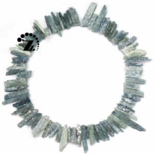 "Shop Kyanite Chip & Nugget Beads! Kyanite rough point bead,slice nugget,spike,stick,top drilled bead,Blue Kyanite,Genuine,Natural,Gemstone,DIY,5-9×20-35mm,15"" full strand 