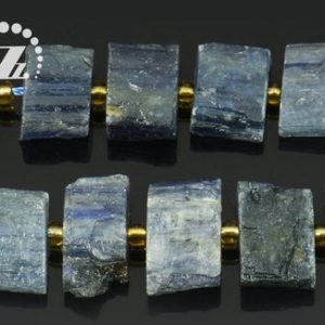 "Shop Kyanite Chip & Nugget Beads! Kyanite smooth nugget bead,Blue Kyanite,centre drilled bead,irregular,freedom,gemstone,natural,diy,9-10x13mm,15"" full strand 