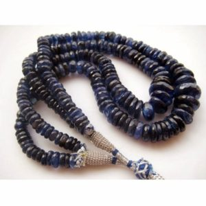 Shop Kyanite Faceted Beads! Blue Kyanite, Kyanite Beads, Faceted Rondelle Beads, Faceted Kyanite, 20mm To 7mm Each, 13 Inch Strand, 100 Pieces Approx | Natural genuine faceted Kyanite beads for beading and jewelry making.  #jewelry #beads #beadedjewelry #diyjewelry #jewelrymaking #beadstore #beading #affiliate #ad