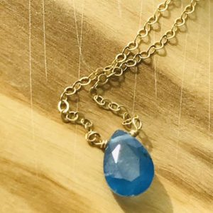 Shop Kyanite Necklaces! Kyanite Necklace Briolette Necklace Blue Healing Necklace December Birthday December Birthstone Layering Necklace Kyanite Blue Boho   Natural genuine Kyanite necklaces. Buy crystal jewelry, handmade handcrafted artisan jewelry for women.  Unique handmade gift ideas. #jewelry #beadednecklaces #beadedjewelry #gift #shopping #handmadejewelry #fashion #style #product #necklaces #affiliate #ad
