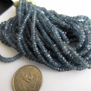 Shop Kyanite Necklaces! Multi Strand Teal Blue Moss Kyanite Necklace, Blue Kyanite Faceted Rondelle Beads,  3mm To 6mm Beads, GDS896   Natural genuine Kyanite necklaces. Buy crystal jewelry, handmade handcrafted artisan jewelry for women.  Unique handmade gift ideas. #jewelry #beadednecklaces #beadedjewelry #gift #shopping #handmadejewelry #fashion #style #product #necklaces #affiliate #ad