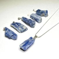 Blue Kyanite Pendant With Chain | Natural genuine Gemstone jewelry. Buy crystal jewelry, handmade handcrafted artisan jewelry for women.  Unique handmade gift ideas. #jewelry #beadedjewelry #beadedjewelry #gift #shopping #handmadejewelry #fashion #style #product #jewelry #affiliate #ad