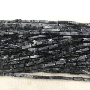 Genuine Black Labradorite 4x13mm Cuboid Natural Gemstone Loose Tube Beads 15inch Jewelry Supply Bracelet Necklace Material Support Wholesale | Natural genuine other-shape Array beads for beading and jewelry making.  #jewelry #beads #beadedjewelry #diyjewelry #jewelrymaking #beadstore #beading #affiliate #ad