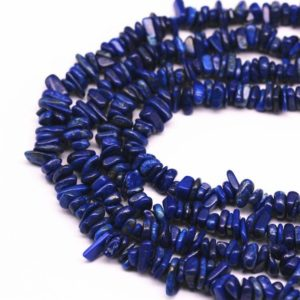 "Lapis Nugget Irregular Nugget Chips Beads 7-8mm 34"" Strand 