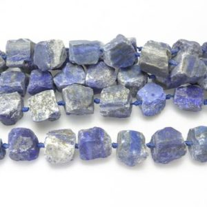 Shop Lapis Lazuli Chip & Nugget Beads! Raw Lapis Lazuli – Light Blue Big Nuggets – Raw Nuggets Supplies – Jewelry Making Materials – Raw Jewelry Beads – 15inch | Natural genuine chip Lapis Lazuli beads for beading and jewelry making.  #jewelry #beads #beadedjewelry #diyjewelry #jewelrymaking #beadstore #beading #affiliate #ad