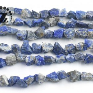 "Shop Lapis Lazuli Chip & Nugget Beads! Lapis Lazuli,rough nugget beads,Cut Nugget,Chunky Nugget,Natural,5-10×8-13mm,15"" full strand 