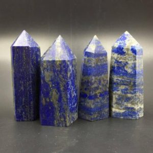 Shop Lapis Lazuli Stones & Crystals! Blue Lapis Lazuli Point Natural Lapis Tower Blue Gemstone Tower Obelisk Standing Point Meditation Tool Healing Reiki Crystal Grid Supply | Natural genuine stones & crystals in various shapes & sizes. Buy raw cut, tumbled, or polished gemstones for making jewelry or crystal healing energy vibration raising reiki stones. #crystals #gemstones #crystalhealing #crystalsandgemstones #energyhealing #affiliate #ad